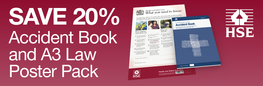 Save 20% Accident Book and A3 Law Poster Pack