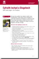Health and Safety Law Leaflet: What You Need to Know - Welsh/English version - Front