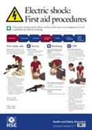 Electric Shock First Aid Poster - Front