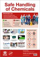 COSHH Safe Handling of Chemicals Poster - Front
