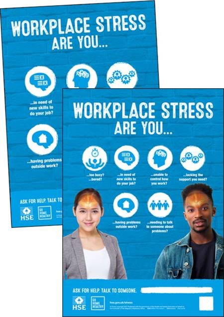 Workplace stress posters (infographic version)